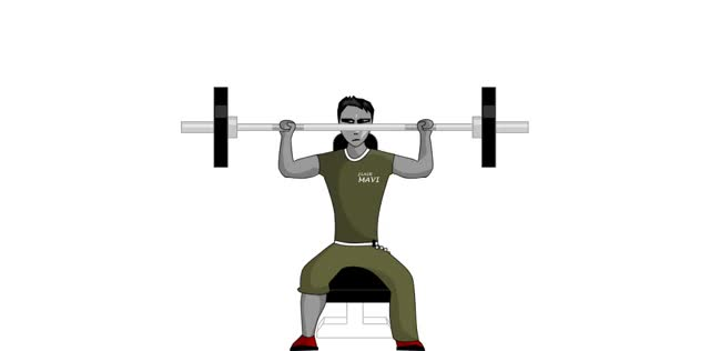 Watch Barbell Shoulder Press - Seated GIF on Gfycat. Discover more related GIFs on Gfycat
