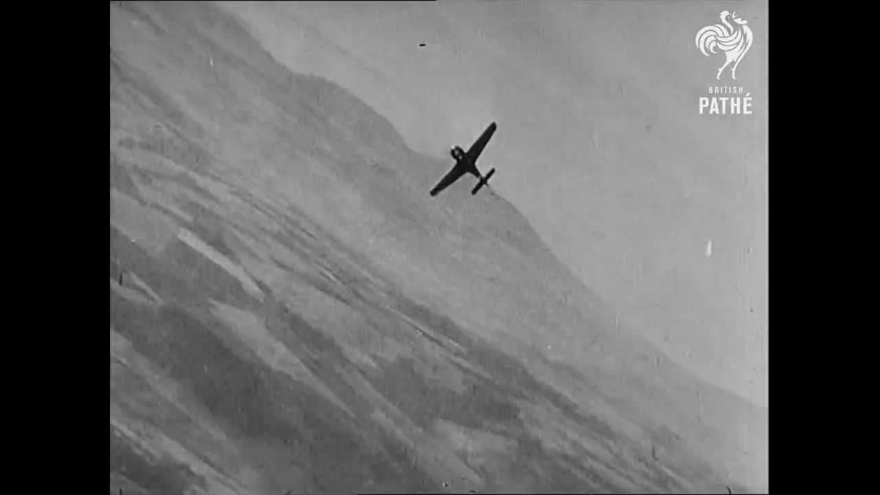 combatfootage, [GIF] Intense dog fight - German Luftwaffe pilot jumps from his fighter plane during WWII (reddit) GIFs