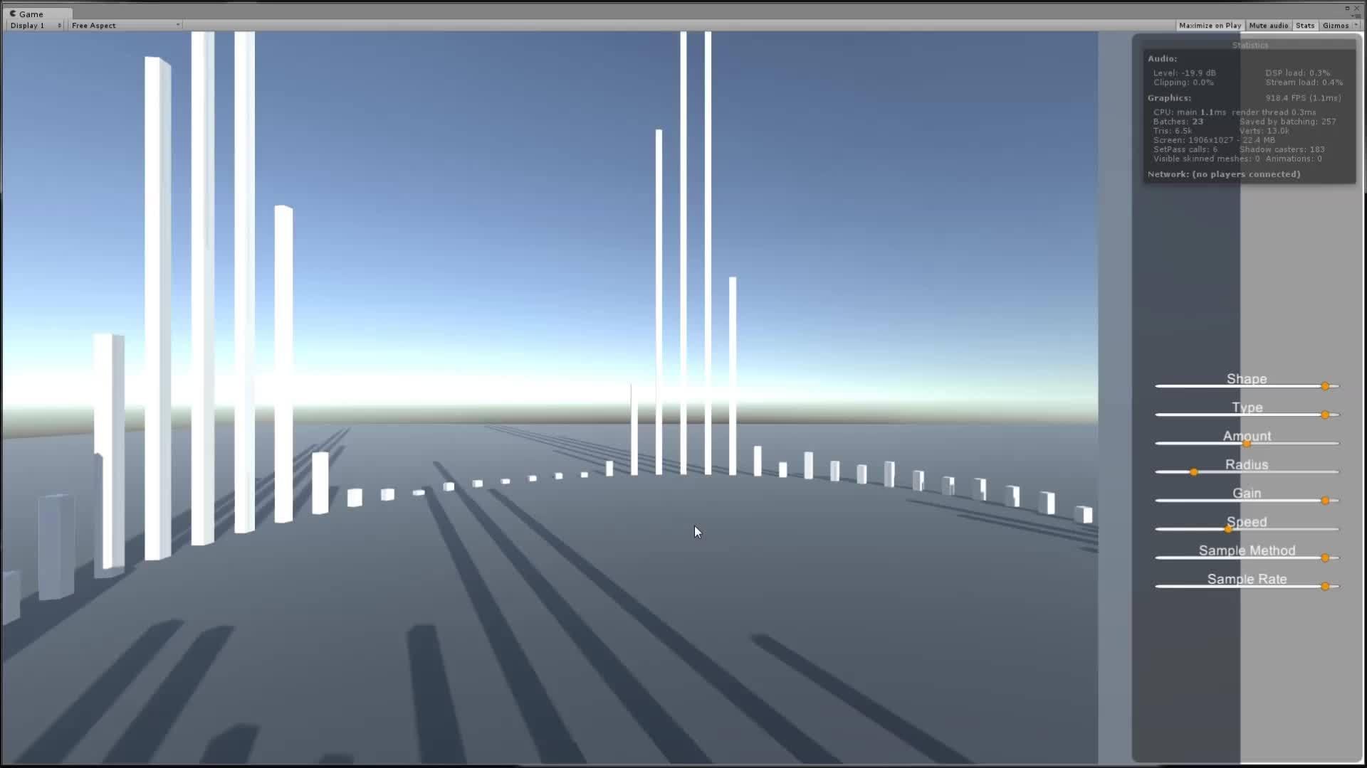 #gamedev #audio #csharp, [Unity] Basic Audio Visualizer (Resource/Tutorial) GIFs