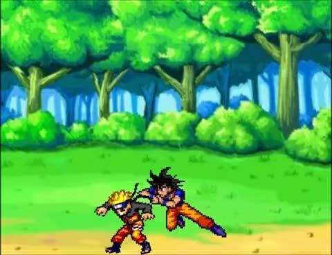 Watch and share Random Sprite Battles: Goku Vs Naruto GIFs on Gfycat