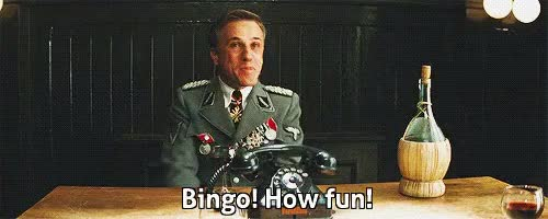 Watch bingo GIF on Gfycat. Discover more christoph waltz GIFs on Gfycat