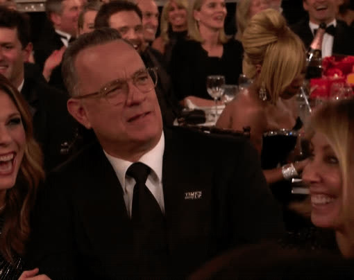 2018, confused, golden globes, huh, tom hanks, what, wtf, Tom Hanks Golden Globes 2018 GIFs