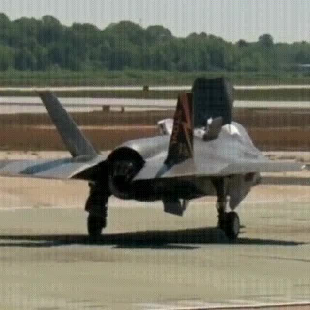 Watch F-35 Lightning Vertical Takeoff Test GIF by MoveToPluto (@movetopluto) on Gfycat. Discover more related GIFs on Gfycat