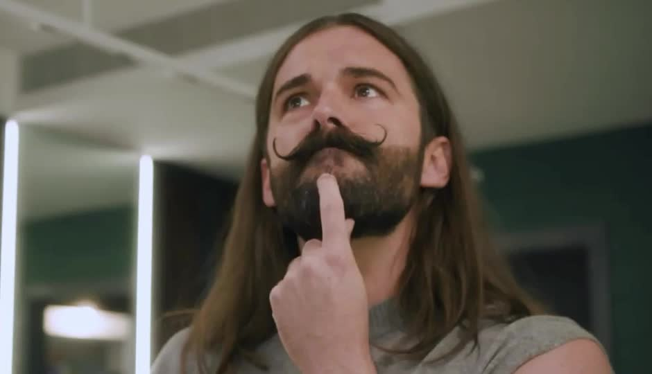 about, consider, deny, don't, hmm, it, jonathan, let, me, moustache, ness, no, nope, second, think, thinking, thoughts, van, well, Jonathan Van Ness - No GIFs