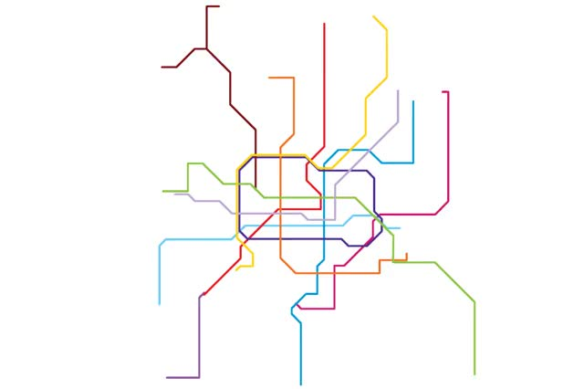 Shanghai Subway Map Vs Acutal.Mesmerizing Gifs Comparing Major Cities Subway Maps With Their