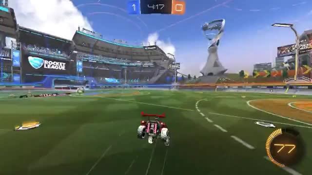 Watch Slinkeren - Ceiling shot pass goal. GIF by @slinkeren on Gfycat. Discover more Celing shot, Rocket league, RocketLeague, goal, pass GIFs on Gfycat