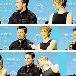 Watch Sinceriously Melodiful. GIF on Gfycat. Discover more arrow, emily bett rickards, emilybettrickards, gifs, olicity, paleyfest, stemily, stephen amell, stephenamell GIFs on Gfycat