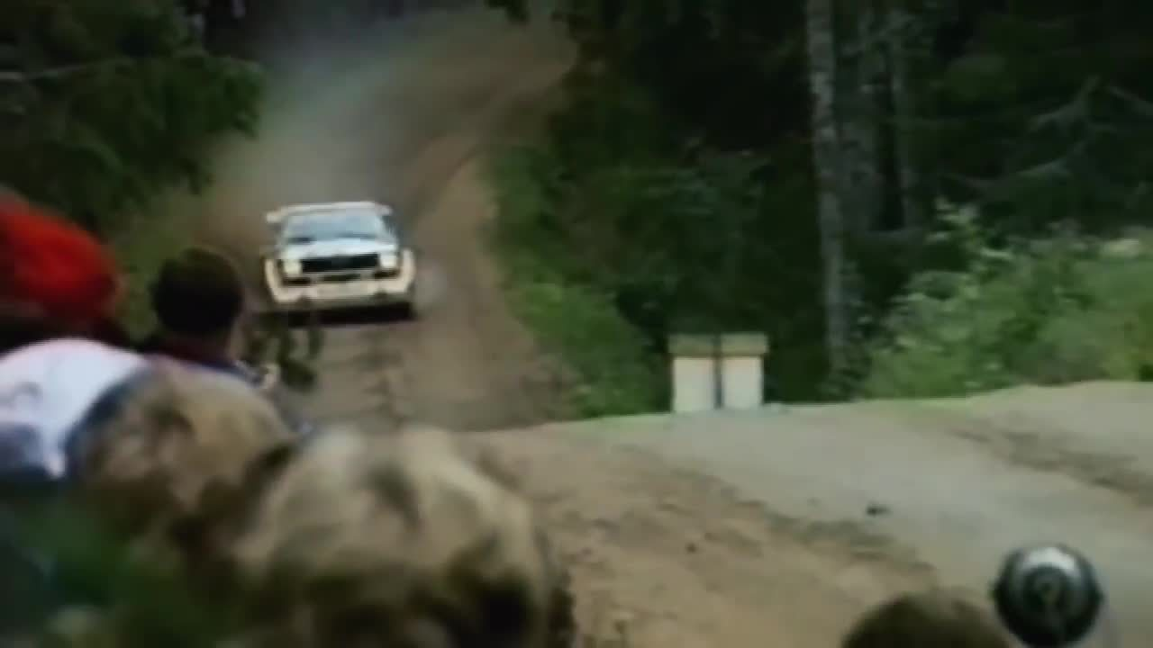 RallyPorn, rally, rallyporn, Audi Sport Quattro E2 flat out in Finland GIFs