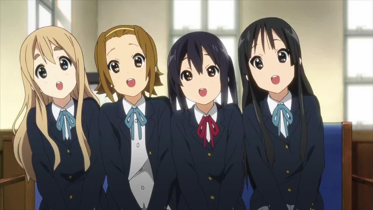 Anime, K-ON!!, Singing, K-ON!! Backup singing GIFs