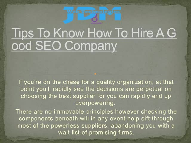 Watch and share 6 Tips To Know How To Hire A Good SEO Company GIFs by JDM Web Technologies on Gfycat