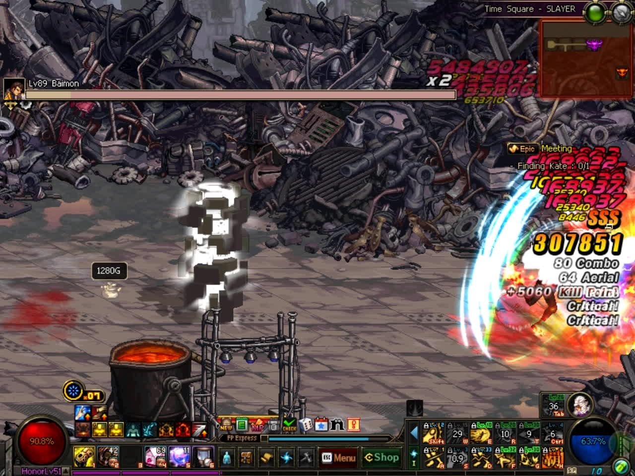60fps, dfo, mmorpg, DFO Hell Mode Vol.83 GIFs