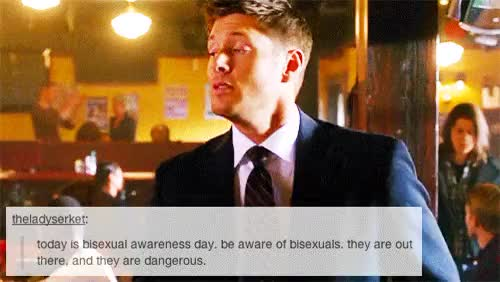 Watch and share Dean Winchester GIFs and Biseuxal GIFs on Gfycat