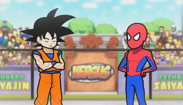 Watch and share Goku E Homem Aranha  Creditos Para Rebosteio Ou Cachorro Saiyajin GIFs on Gfycat