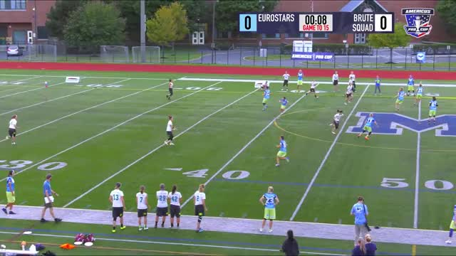 Watch upfield sideline reset 1 GIF by JoeMama Ultimate (@marmersteinj) on Gfycat. Discover more Sports, TheAUDLChannel, boston brute squad, eurostars, ultimate frisbee GIFs on Gfycat