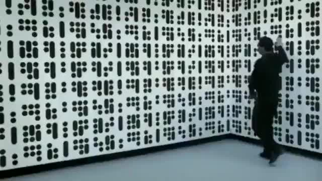 Full wall, interactive art installation