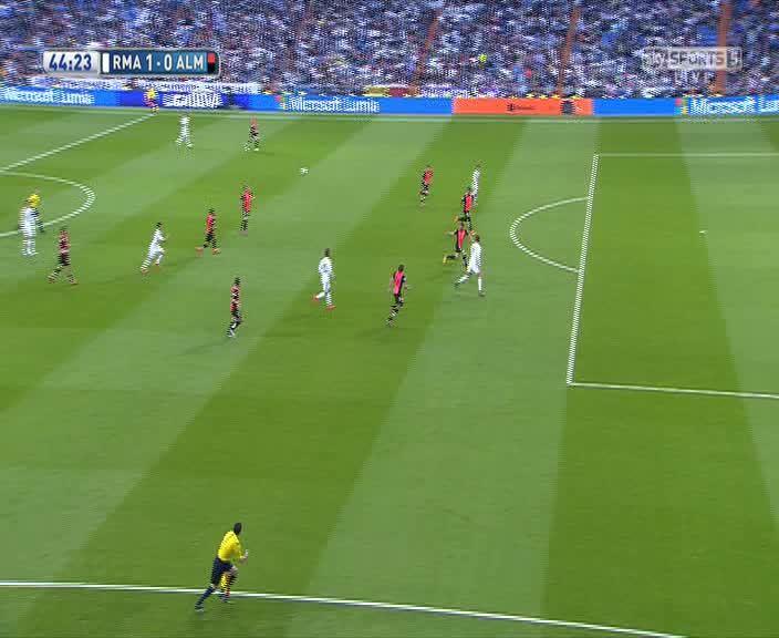 realmadrid, soccer, James goal vs Almeria (reddit) GIFs