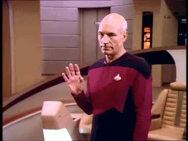 Watch and share Patrick Stewart GIFs and Hello GIFs on Gfycat