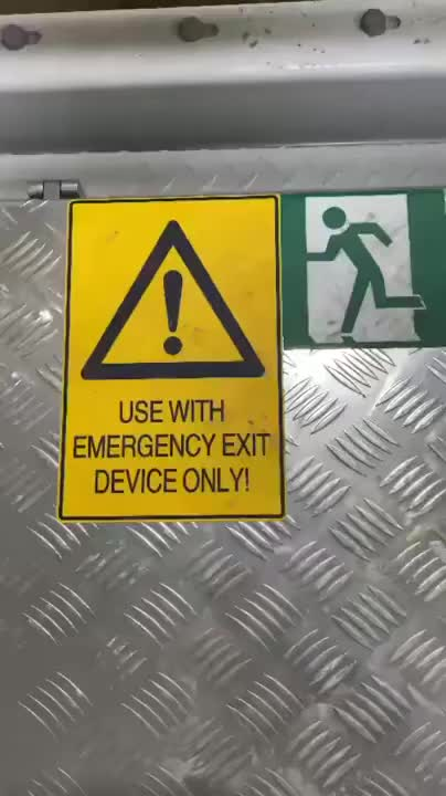 Watch and share Emergency Exit GIFs and No Thanks GIFs on Gfycat