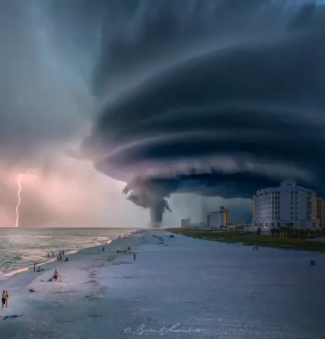 florida, pensacola beach, tornado, Tornado of Pensacola Beach , Florida by Brent shavnore GIFs