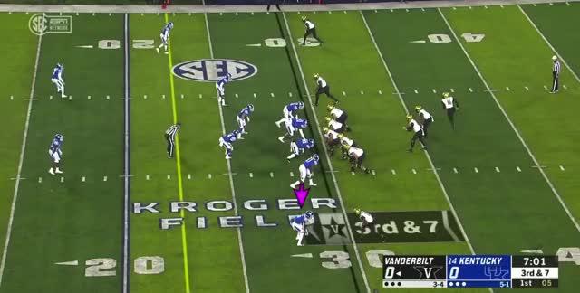 Watch and share 2019 NFL Draft: Lonnie Johnson Allows TD V. Vandy GIFs by Matt Weston on Gfycat
