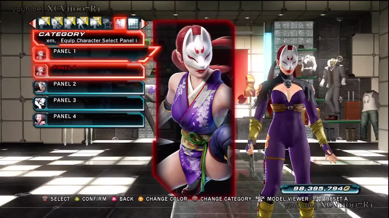 Tekken Tag Tournament 2 Kunimitsu Character Panel Gif Gfycat