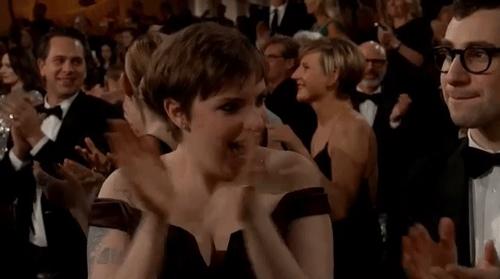 applause, clap, clapping, lena dunham, respect, slow clap, Lena Dunham Clapping GIFs