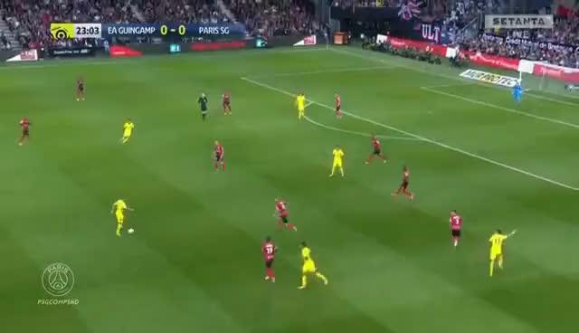 Watch and share Neymar Vs EA Guingamp (DEBUT) (13/08/17)  HD 1080i GIFs on Gfycat