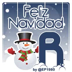 Letra R Muñeco de Nieve