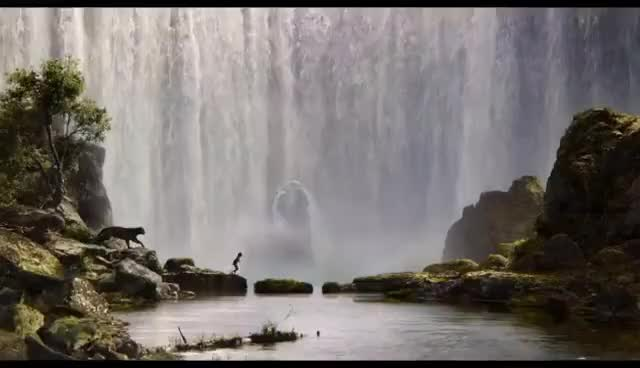 Watch and share The Jungle Book Official Big Game Trailer GIFs on Gfycat