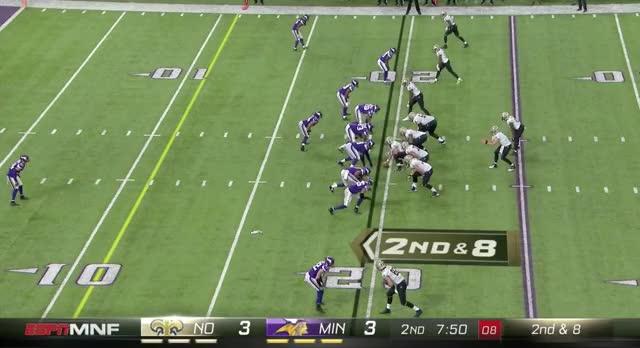 Watch Eric Kendricks - Saints Pressure Forces Throwaway GIF by BJ Reidell (@reidellvt) on Gfycat. Discover more Drew Brees, Eric Kendricks, Minnesota Vikings, NFL, New Orleans Saints GIFs on Gfycat