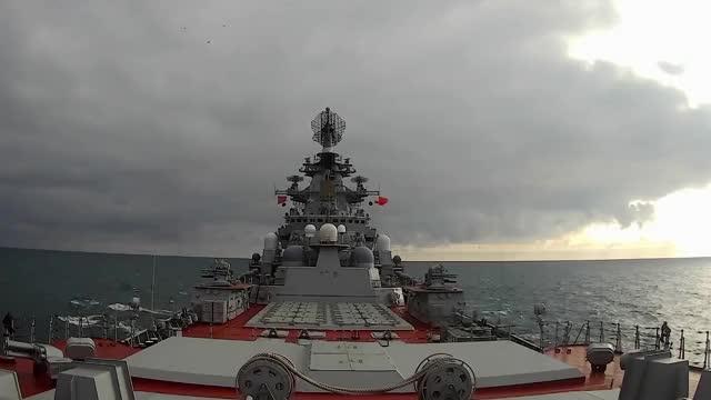 Watch and share Russian Kirov-class Cruiser 'Pyotr Veliky' Launching P-700 'Granit/SS-N-19 'Shipwreck' Anti-ship Cruise Missiles. GIFs on Gfycat