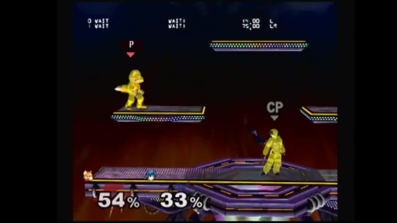 Fox beating approaching nair with u-smash GIFs