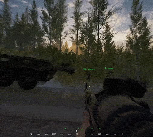 joinsquad, Squad - Breaking news!  Militia technical breaking through Russian lines caught on body cam! Live firefight! GIFs