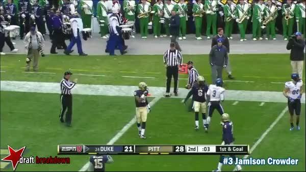 Jamison Crowder vs Pittsburgh (2014) (reddit)