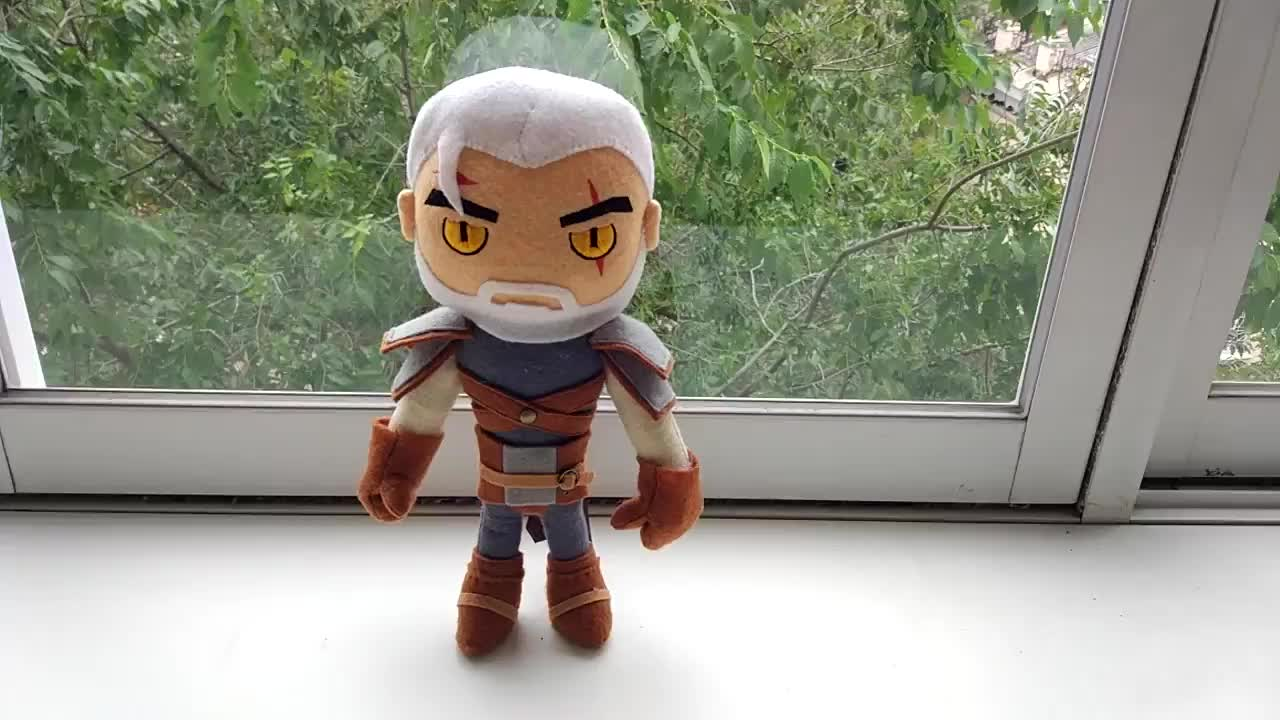 G4SKY, Geralt, Plush, Witcher, geralt plush, geralt toy, the witcher, the witcher 2, the witcher 3, the witcher 3 geralt, toy, witcher 3, witcher 3 geralt, Ведьмак, Геральт, Мягкая игрушка, ведьмак 3, ведьмак 3 игрушка, геральт игрушка, игрушка, Geralt (The Witcher) Handmade Plush Toy GIFs