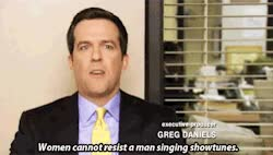 Watch and share The Office Ed Helms Musicals Broadway Andy Bernard Showtunes GIFs on Gfycat