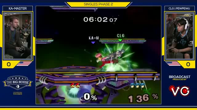 TBH6 SSBM - CLG | PewPewU (Marth) Vs. Ka-Master (Luigi) - Smash Melee Pools