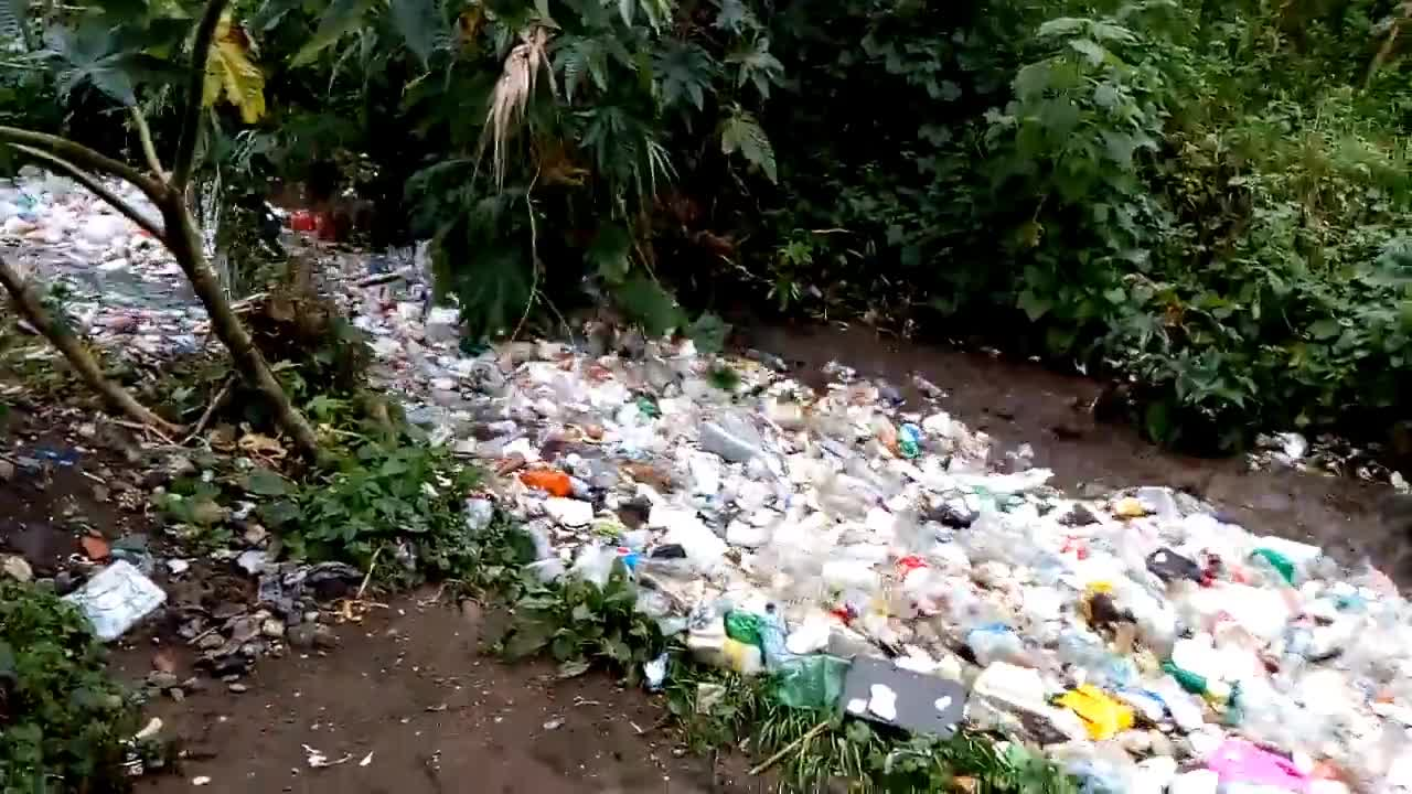 A River of Plastic Waste in Guatemala GIFs