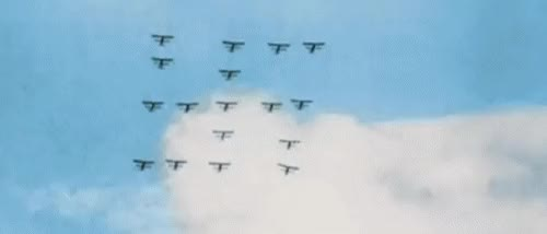 """Watch mein-goering: """" Luftwaffe - Swastika formation in colour (gif) I always seem find colour footage after I've already made black & white gifs, GIF on Gfycat. Discover more related GIFs on Gfycat"""