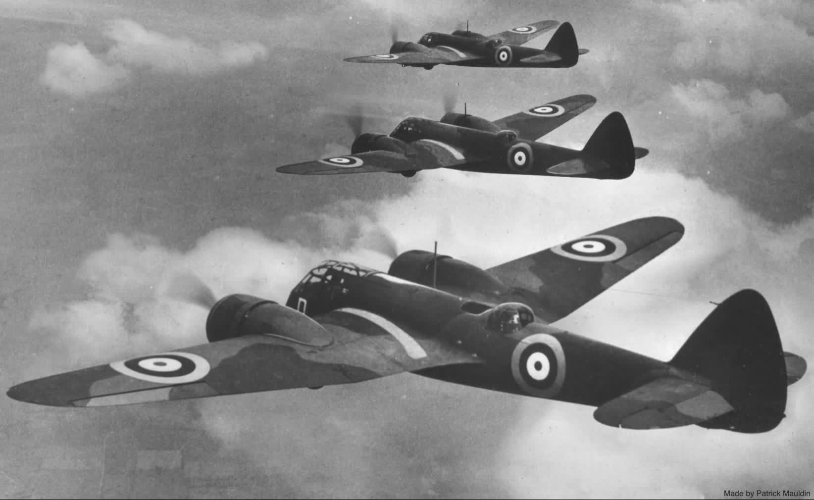 Parallax, RAF, wwiiplanes, Parallax WWII RAF MK1 Bombers GIFs