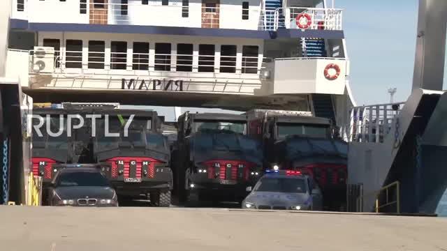 VIRAL- Putin's cutting-edge Batmobiles drive to Crimea for F GIFs