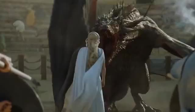 Watch Game of Thrones 5x09 - Drogon rescues Daenerys GIF on Gfycat. Discover more related GIFs on Gfycat