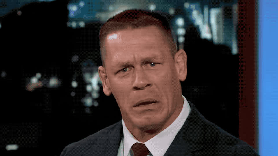angry, annoyed, breathing, cena, deep, dwayne, epic, funny, jimmy, john, johnson, kimmel, lol, mad, pissed, response, threat, John Cena's epic response to Dwayne Johnson's threat GIFs