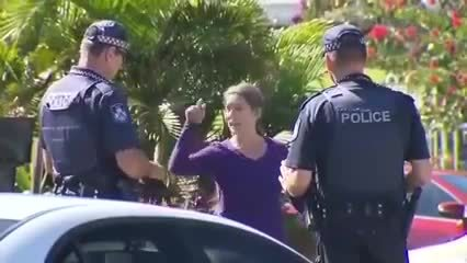 Whatcouldgowrong, holdmybeer, whatdidyouexpect, I should hit this officer with my dog's poop bag, WCGW? (reddit) GIFs