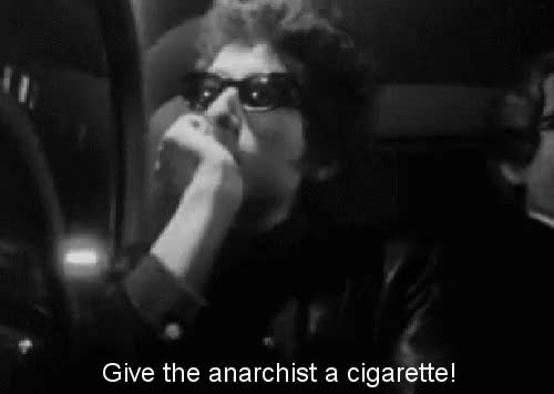 Watch this bob dylan GIF on Gfycat. Discover more anarchist, bob dylan, bob dylan interview, cigarette, young bob dylan GIFs on Gfycat