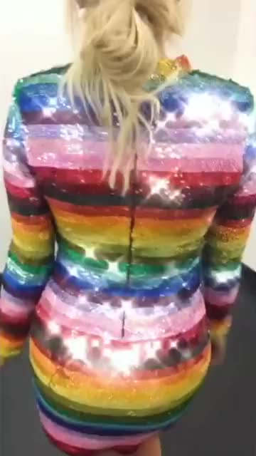 Watch Holly Willoughby - 🌈 Rainbow Dress GIF by GoldBarbara (@goldbarbara) on Gfycat. Discover more Dress, Holly, Holly Willoughby, Rainbow, Willoughby GIFs on Gfycat