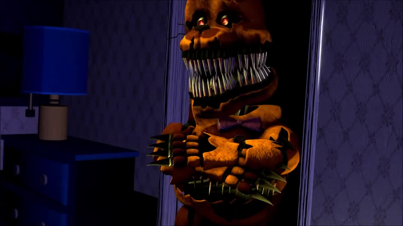 animation, animations, countdown, fnaf, scary, sfm, shake my head, smh, Nightmare Fredbear Disapproves GIFs
