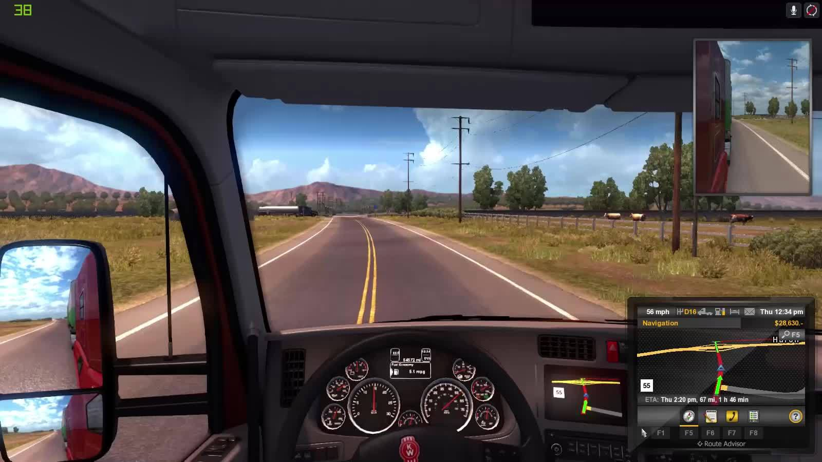 american truck sim, american truck simulator, trucksim, ATS stupid drivers. GIFs