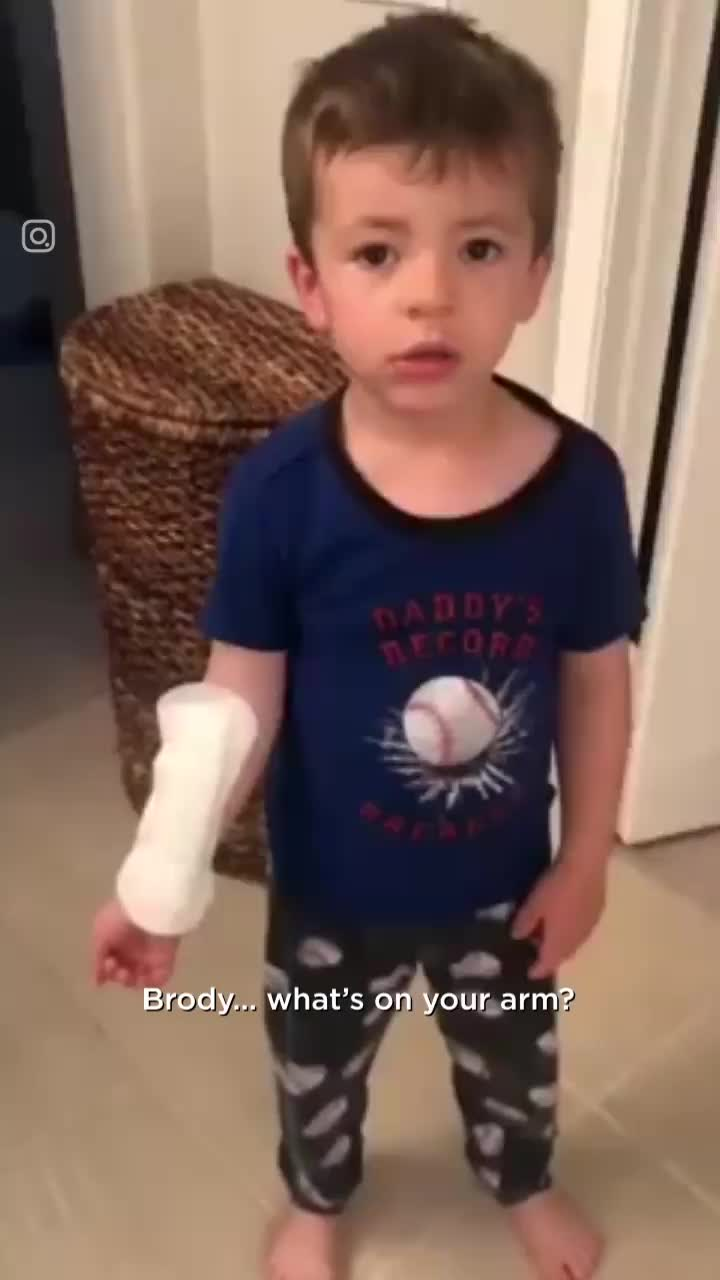 Little Boy Thinks Sanitary Pad Is A Plaster GIFs