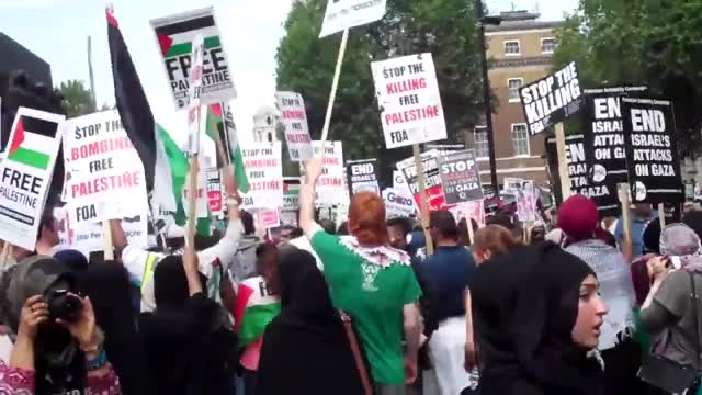 Watch this trending GIF by @holylandtrust on Gfycat. Discover more Gaza demo, July 19 (Day Of Year), Stop The War Coalition (Organization), Whitehall (Location) GIFs on Gfycat